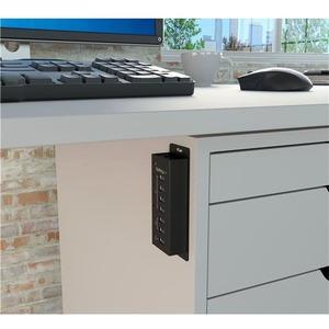 StarTech.com 4 Port USB 3.0 Hub plus 3 Dedicated USB Charging Ports (2 x 1A & 1 x 2A) - Wall Mountable Metal Enclosure - 7