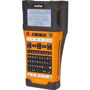 Brother Industrial Handheld Labeling Tool w/ Auto Cutter & Computer Connectivity - Thermal Transfer - 180 dpi - Tape, Labe
