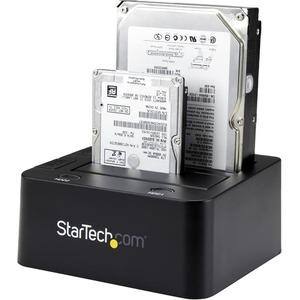 """StarTech.com 2-fach USB 3.0 Festplatten Dockingstation mit UASP für 2,5/3,5"""" SSD / HDD - 2 x HDD unterstützt - 2 x SSD unt"""