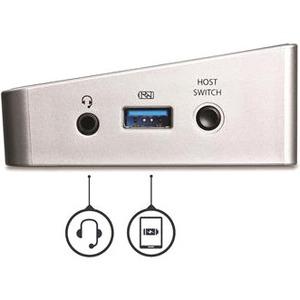 StarTech.com USB 3.0 Docking Station für Notebook/Tablet-PC - Schwarz, Silber - TAA-konform - 7 x USB-Anschlüsse - 7 x USB