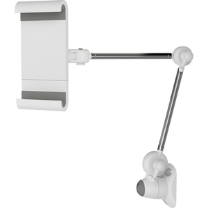 """Barkan Full-Motion Clamp Mount for Tablet, Digital Text Reader - White - 1 Display(s) Supported - 7"""" to 12"""" Screen Support"""