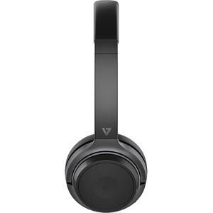 V7 HB600S Headset - Stereo - USB - Wireless - Bluetooth - 100 ft - 32 Ohm - On-ear - Binaural - Black BOOM MIC W/USB DONGL
