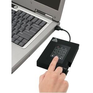 Apricorn Aegis Padlock A25-3PL256-1000F 1 TB Portable Rugged Hard Drive - External - USB 3.0 - 5400rpm - 3 Year Warranty U