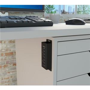 StarTech.com 4 Port USB 3.0 Hub plus 3 Ladeanschlüsse (2x 1A & 1x 2A) - Metallgehäuse zur Wandmontage - 7 Total USB Port(s