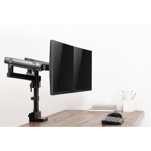 "V7 DMPRO2DTA-3N Desk Mount for Monitor - Matte Black - 2 Display(s) Supported32"" Screen Support - 35.27 lb Load Capacity 2"