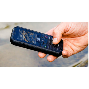 "Téléphone portable standard Caterpillar B26 - Écran - Écran 6,1 cm (2,4"") QVGA 320 x 240 - 208 MHz - Noir - Barre - 2 Supp"