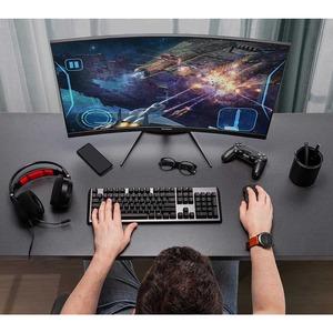 """Viewsonic VX3418-2KPC 34"""" WQHD Curved Screen LED Gaming LCD Monitor - 21:9 - 34"""" Class - MVA technology - 3440 x 1440 - 16"""