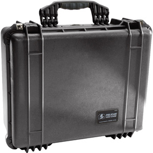 Pelican PELICAN 1550 CASE W/ FOAM BLACK - Double Throw Latch, Padlock Closure - Polycarbonate, Stainless Steel - Black 18.
