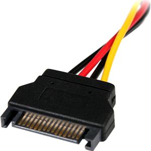 StarTech.com 15cm SATA auf LP4 Stromadapter - Bu/St - für Festplatte - Serial ATA / LP4 - Schwarz