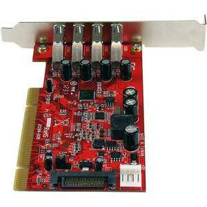 StarTech.com 4 Port USB 3.0 PCI Schnittstellenkarte- PCI SuperSpeed USB 3.0 Controller Karte - 4 Total USB Port(s) - 4 USB