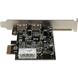 StarTech.com 2 Port USB 3.0 PCI Express Schnittstellenkarte mit UASP und 4 Pin LP4 Molex - 2 Total USB Port(s) - 2 USB 3.0