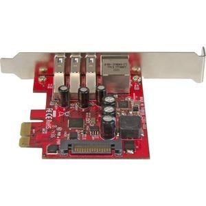 StarTech.com 3 Port PCI Express USB 3.0 Karte mit Gigabit Ethernet - 3 Total USB Port(s) - 3 USB 3.0 Port(s)1 Netzwerk (RJ