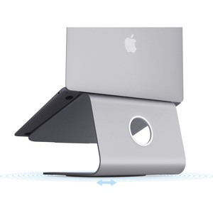 "Rain Design mStand360 Laptop Stand w/ Swivel Base - Space Grey - 5.9"" Height x 10"" Width x 9.3"" Depth - Desktop - Aluminum"