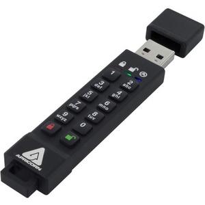 Apricorn 128GB Aegis Secure Key 3z USB 3.1 Flash Drive - 128 GB - USB 3.1 - 77 MB/s Read Speed - 72 MB/s Write Speed - 256