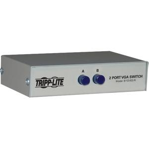 Tripp Lite 2-Port Manual VGA/SVGA Video Switch 3x HD15F Metal - 1600 x 1280 - VGA, SVGA - 2 Input Device - 1 Output device