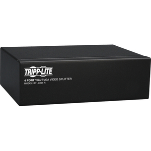 Tripp Lite 4-Port VGA / SVGA Video Splitter Signal Booster High Resolution Video - 4 x D-Sub (HD-15) Monitor, 1 x D-Sub (H
