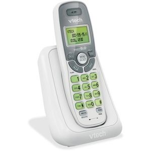 VTech CS6114 DECT 6.0 Cordless Phone with Caller ID/Call Waiting, White with 1 Handset - 1 x Phone Line - Backlight
