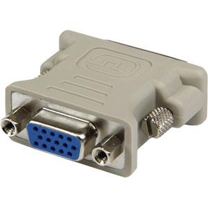 StarTech.com DVI auf VGA Monitor Adapter - St/Bu - Grau - 1 x HD-15 Buchse Seriell - 1 x DVI-I Stecker Video - Beige