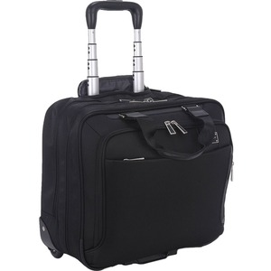 """ECO STYLE Tech Exec Carrying Case (Roller) for 16"""" Notebook - Handle UP TO 15.6IN + IPAD/TABLET POCKET"""