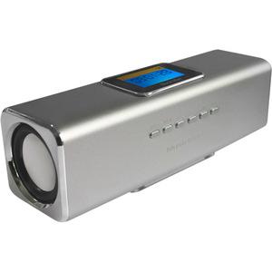 Système de Haut-Parleurs MusicMan Portable - Argenté - Fréquence 150 Hz à 18 kHz - Batterie rechargeable - USB