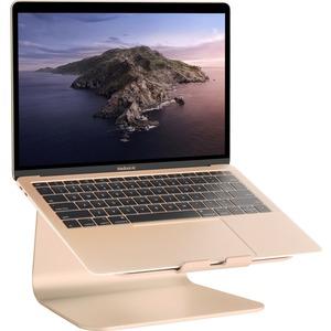 """Rain Design mStand360 Laptop Stand w/ Swivel Base - Gold - 5.9"""" Height x 10"""" Width x 9.3"""" Depth - Desktop - Aluminum - Gol"""