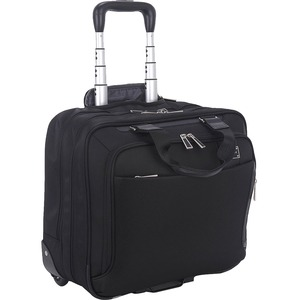 """ECO STYLE Tech Exec Carrying Case (Roller) for 16.1"""" Notebook - Handle, Belt Strap, Telescoping Handle - 14.3"""" Height x 16"""