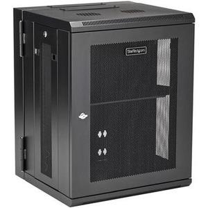 StarTech.com 15U Wandmontierbar Rackschrank für Server, LAN-Schalter, Patchfeld408,94 mm Rack Depth - Schwarz - 90 kg Stat