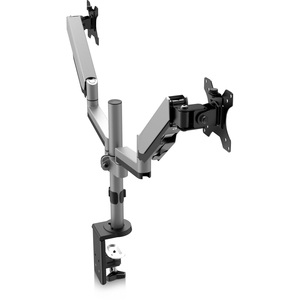 """V7 DM1DTA-1N Desk Mount for Monitor - Silver - 2 Display(s) Supported32"""" Screen Support - 34 lb Load Capacity TWO DISPLAYS"""