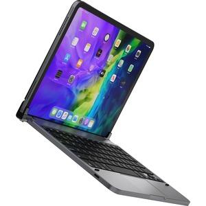 Brydge Pro+ 11.0 Keyboard - Wireless Connectivity - Bluetooth - English - QWERTY Layout - iPad Pro - TouchPad - iOS - Spac