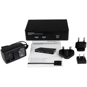 StarTech.com 2 Port USB HDMI KVM Switch w/ Audio & USB 2.0 Hub - 2 x 1 - 2 x Mini HDMI Digital Audio/Video
