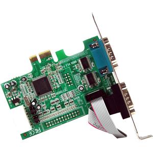 StarTech.com 2 Port Seriell RS232 PCI Express Schnittstellenkarte mit 16550 UART - PCI Express - PC, Mac, Linux - 2 x Anza
