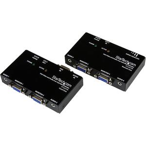 StarTech.com VGA Video über Cat5 Extender mit Audio - 1 Eingabegerät - 4 Ausgabegerät - 152,40 m Reichweite - 2 x Netzwerk