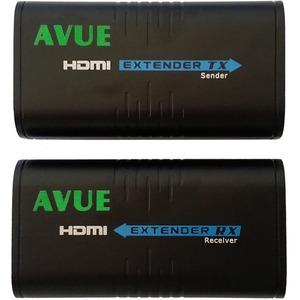Avue HDMI Extender - HDMI-EC300 - 393.70 ft Range - 2 x Network (RJ-45) - 1 x HDMI In - 1 x HDMI Out - Full HD - 1920 x 10