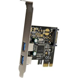 StarTech.com 2 Port USB 3.0 SuperSpeed PCI Express Schnittstellenkarte mit SATA Stromanschluss - 2 Total USB Port(s) - 2 U