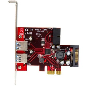 StarTech.com 4 Port USB 3.0 PCI Express-Karte - 2 Externe und 2 Interne mit SATA Power - 4 Total USB Port(s) - 4 USB 3.0 P