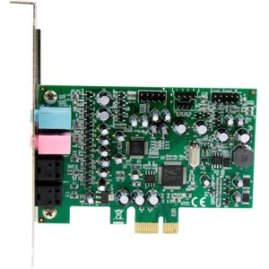 StarTech.com 7.1 Channel Sound Card - PCI Express - 24-bit - 192KHz - C-Media CM8828 - PCI Express x1 - 92 dB - S/PDIF Out