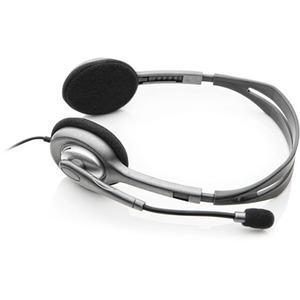 Logitech H111 Wired Over-the-head Stereo Headset - Black - Binaural - Supra-aural - 32 Ohm - 20 Hz to 20 kHz - 180 cm Cabl