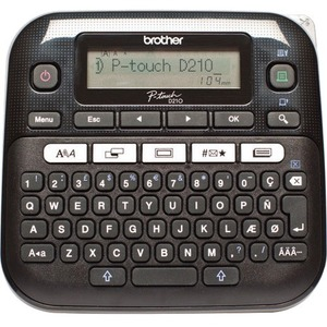 Brother P-touch PT-D210VP Electronic Label Maker - Thermal Transfer - 20 mm/s Mono - 180 dpi - Label, Tape3.50 mm, 6 mm, 9