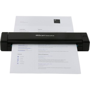 IRIS Iriscan Executive 4-The Ultimate Portable Duplex Scanner - 24-bit Color - 8-bit Grayscale - Duplex Scanning - USB DUP