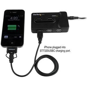 StarTech.com USB-Hub - USB - 6 Total USB Port(s) - 4 USB 2.0 Port(s) - 2 USB 3.0 Port(s) - PC, Mac