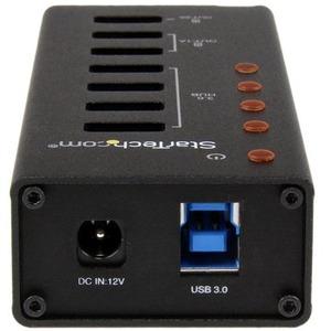 StarTech.com USB-Hub - USB - Extern - Schwarz - 7 Total USB Port(s) - 4 USB 3.0 Port(s) - PC, Mac