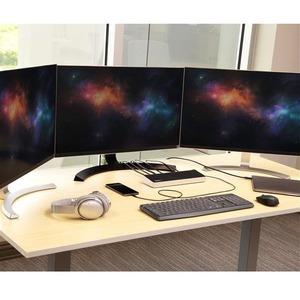 StarTech.com USB 3.2 Gen 1 (3.1 Gen 1) Type-C Docking Station - No - 60 W - Black, Silver - Network (RJ-45) - Microphone -