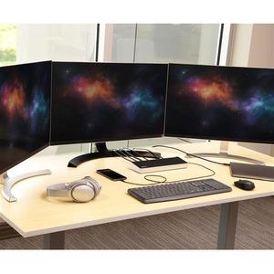 StarTech.com 4K USB C Dockingstation - Triple UHD 4K Monitor Dock - Mac & Windows - USB C auf HDMI & DisplayPort - 60W PD
