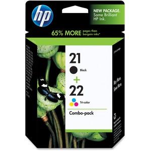 HP 21/22 Original Ink Cartridge - Combo Pack - Inkjet - 190, 165 - Black, Color - 1 Each SENSORMATIC