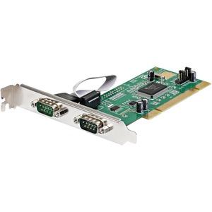 StarTech.com 2 Port RS232 Seriell PCI Schnittstellenkarte mit 16550 UART - PCI - PC - 2 x Anzahl externe serielle Ports