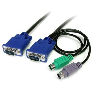 StarTech.com 1,8m 3-in-1 PS/2 VGA KVM Kabel - Erster Anschluss: 1 x 15-polig HD-15 Stecker VGA, Erster Anschluss: 1 x 6-po