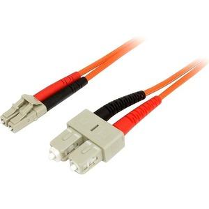 StarTech.com 3 m Multimode 50/125 Duplex LWL-Patchkabel LC - SC - Erster Anschluss: 2 x LC Stecker Netzwerk - Zweiter Ansc