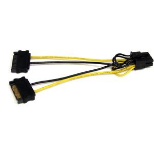 StarTech.com 15cm SATA Strom auf 8 pin PCI Express Grafikkarten Stromkabel - PCIe Y-Kabel Adapter - für PCI Express Card -