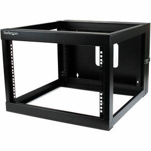 StarTech.com 6HE Serverschrank zur Wandmontage - bis zu 56cm tief - mit Scharnier - offen - 49,90 kg Maximale Gewichtskapa