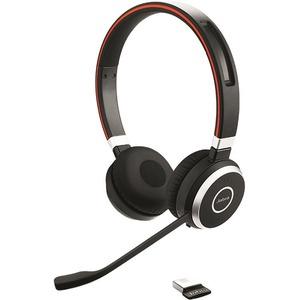 Jabra EVOLVE 65 MS Kabellos Kopfbügel Stereo Headset - Binaural - Ohraufliegend - 3000 cm Reichweite - Bluetooth - Geräusc